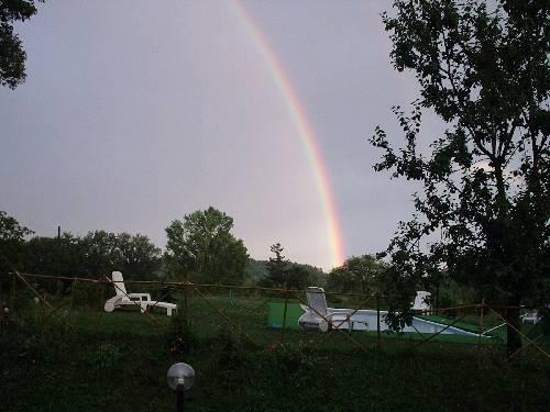 arcobaleno in piscina